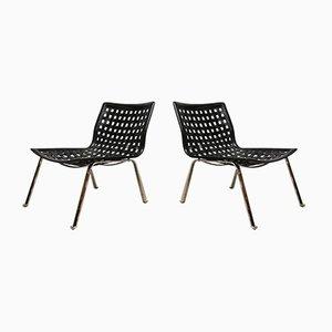 Vintage Easy Net Chairs by Gianlaro Vehem for Fase, Set of 2