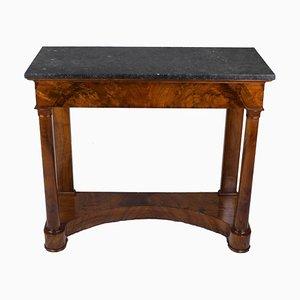 Walnut Veneered Console Table