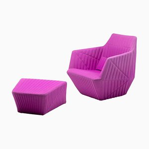 Armchair and Ottoman by Ronan & Erwan Bouroullec, Set of 2