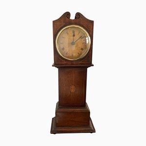 Horloge Longue Miniature d'Apprenti Antique en Acajou Marqueté