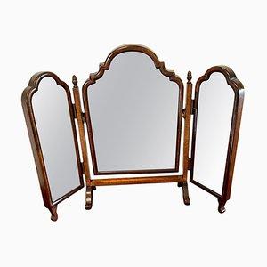Antique Walnut Triple Mirror