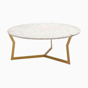 Table Basse Ronde Carrara Star par Olivier Gagnère