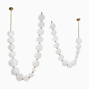 Pearl Necklace Pendant Lights by Ludovic Clément D'armont, Set of 2