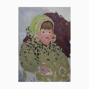 Yakov Kozlov, Kleines Mädchen, Öl auf Leinwand, 1960er