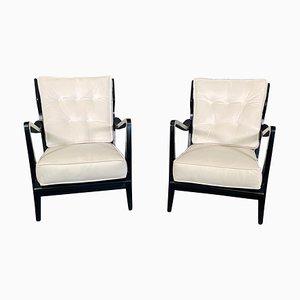 Model No 516 Walnut Ebonized Chairs by Gio Ponti for Cassina, 1950s, Set of 2