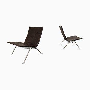 Vintage PK 22 Lounge Chairs by Poul Kjærholm for E. Kold Christensen, Set of 2