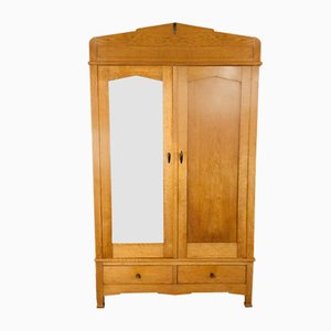Oak Art Deco Wardrobe