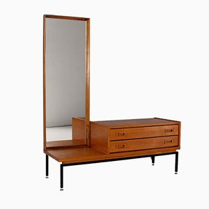 Modernist Mirror with Drawers