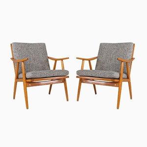 Scandinavian Style Armchairs, 1950s, Set of 2