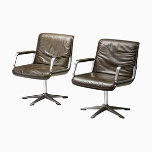 Delta Design Program 2000 Swivel Chair in Padded Leather from Wilkhahn