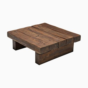 Solid Wood Craftsman Coffee Table