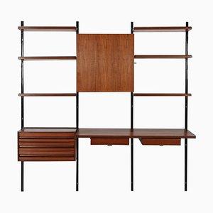 Librería de pared E22 de Osvaldo Borsani para Tecno, años 60