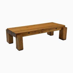 Wabi-Sabi Wooden Salon Table, 1960s
