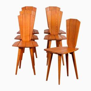 Stühle von Franciszek Aplewicz für LAD, 1960er, 6er Set