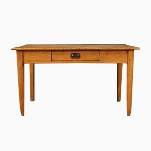 Rustic French Writing Desk in Chestnut, Pine and Fruitwood