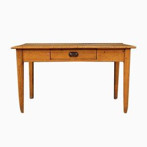 Rustikaler französischer Schreibtisch aus Kastanienholz, Pinienholz und Obstholz