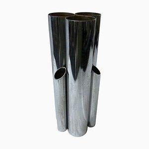 Italienische Modernistische Versilberte Multi Vase im Stil von Giò Ponti, 1980er