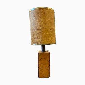Moderne italienische Mid-Century Tischlampe aus Nussholz, 1970er