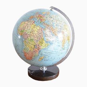 Illuminated Glass Globe from EN Columbus Globus Ehapa, Denmark, 1950s