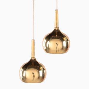 Lampes à Suspension par Hans-Agne Jakobsson pour Markaryd AB, 1960s, Set de 2