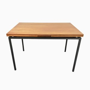 Extendable Dining Table in Teak with Metal Frame, Scandinavia, 1960s