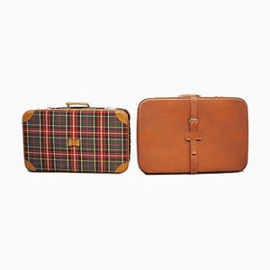 Brown Suitcases, 1950s, Set of 2