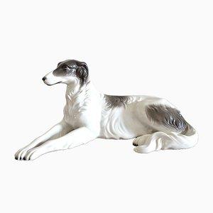 Porcelain Greyhound Borzoi from Neutettau, 1930s