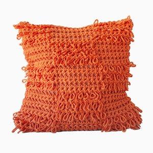 Orange Textures from the Loom Kissen von Com Raiz