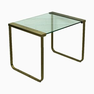 Mid-Century Hollywood Regency Coffee Table in Brass and Glass, Italy, 1970s