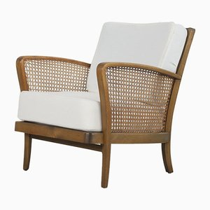 Armchairs with Viennese Braid, 1950s, Set of 2