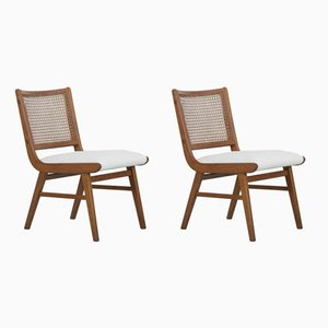 Beech Chairs with Viennese Braid, 1950s, Set of 2