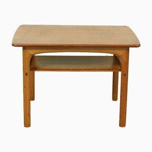 Mid-Century Teak 2-Tier Side Table by Rasmus Solberg for Westnofa, Norway, 1960s
