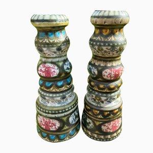 Candlesticks or Vases by André l'Heguen for Keraluc Quimper, 1950s or 1960s