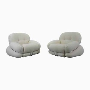Boucle Armchairs by Adriano Piazzesi for Tre D, 1970s, Set of 2