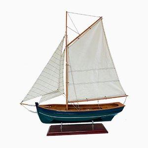 Vintage Wooden Galway Hooker Model Ship