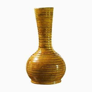 Brutalist Ceramic Gauloises Series Vase from Accolay