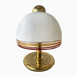 Italienische Lampen aus Muranoglas & Messing von Roberto Pamio für Fabbian, 1970er, 2er Set