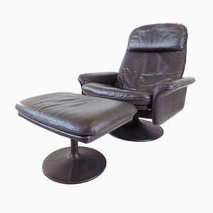 Leather DS 50 Tulip Chair & Ottoman from De Sede