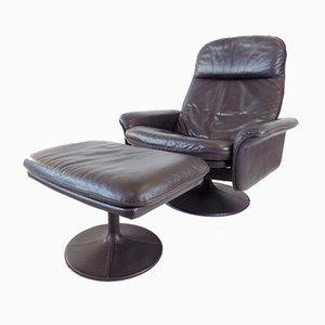 Leder DS 50 Tulip Chair & Ottoman von De Sede