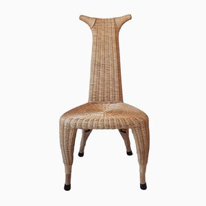 Rattan Carmen Chair by Pierantonio Bonacina, 1990s