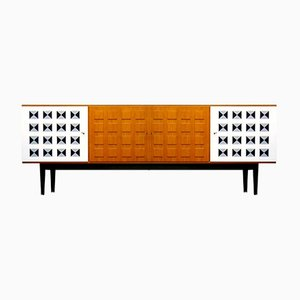 Large Swedish Chest of Drawers with Three-Dimensional Front, 1960s