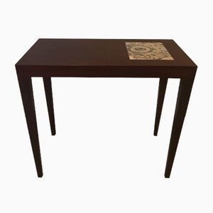 Mahogany Coffee Table with Royal Copenhagen Baca Tiles by Severin Hansen for Haslev Møbelsnedkeri, 1960s