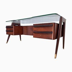 Italienischer Mid-Century Schreibtisch aus Palisander von Vittorio Dassi für Dassi Mobili Moderni, 1950er