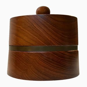 Vintage Scandinavian Pipe Tobacco Humidor in Teak from Christer Design, 1960s