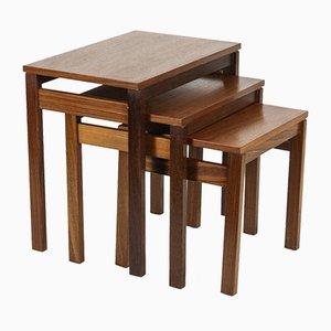 Mid-Century Rosewood Nesting Table Set