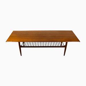 Table Basse Extra Large en Teck par Ib Kofod Larsen