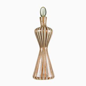 Zanfirico Murano Glass Decanter from Fratelli Toso