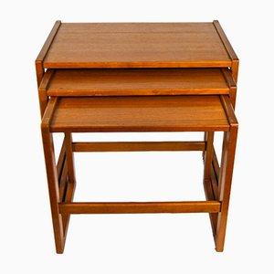 Mid-Century Teak Nesting Table Set