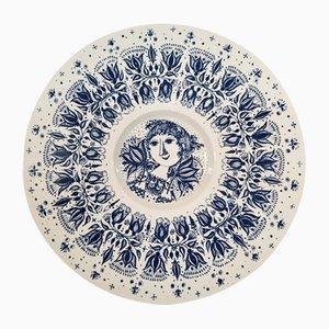 Ceramic Plate by Bjørn Wiinblad for Nymølle