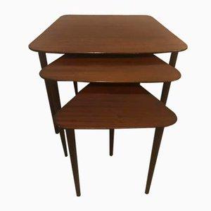 Mahogany Nesting Tables from Jason Møbler, 1960s, Set of 3